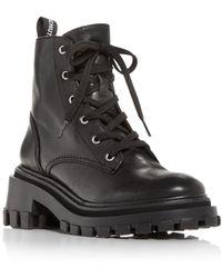 Schutz - Orly Platform Block Heel Combat Boots - Lyst