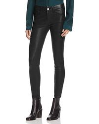 FRAME Le Skinny Leather Trousers - Black