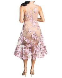 Dress the Population Audrey Plunging Midi Dress - Multicolour