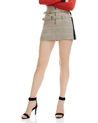 Maje - Ioldi Check-print Mini Skirt - Lyst
