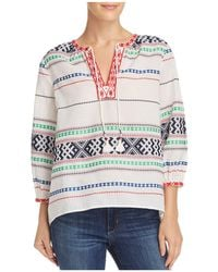 Joie - Jenollina Embroidered Tunic Top - Lyst