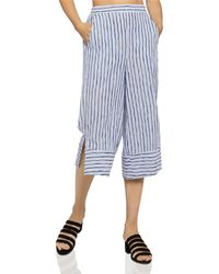 BCBGeneration - Striped Cropped Wide-leg Pants - Lyst
