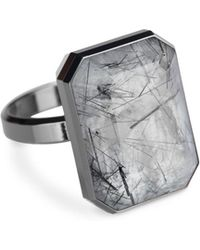 Ringly - Aries Activity Tracker Smart Ring In Tourmalated Quartz - Lyst