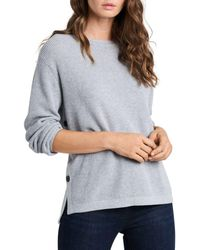 1.STATE - Long Sleeve Crewneck Sweater - Lyst