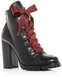 Schutz Women's Zara High Block - Heel Booties - Black