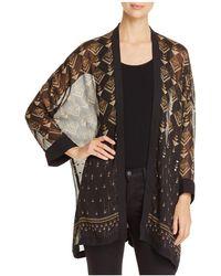 Vince Camuto - Art Deco Print Kimono Jacket - Lyst