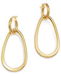 Bloomingdale's - Oval Link Drop Earrings In 14k Yellow Gold - Lyst