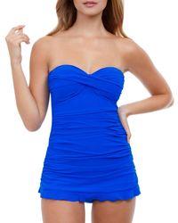Gottex Tutti Frutti Swim Dress - Blue