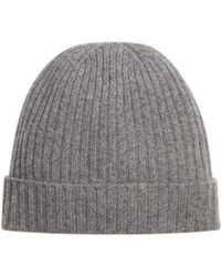Bloomingdale's - Ribbed Cashmere Cuff Hat - Lyst
