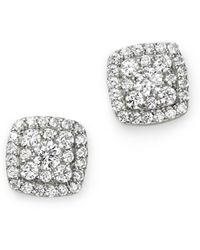 Bloomingdale's Diamond Square Cluster Stud Earrings In 14k White Gold
