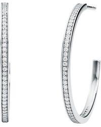 Michael Kors Mercer Link 14k Gold-plated Sterling Silver Hoops - Metallic