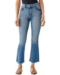 DL1961 Bridget High - Rise Cropped Bootcut Jeans In Hanover - Blue