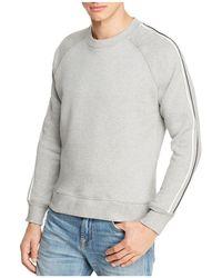7 For All Mankind - Varsity Stripe Crewneck Sweatshirt - Lyst