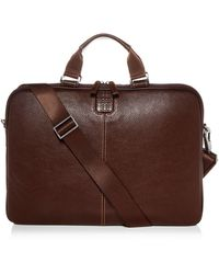 Boconi Tyler Leather Sleeve Briefcase - Brown