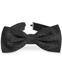 John Varvatos Textured - Diamond Silk Bow Tie - Black