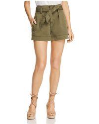 Ella Moss - Belted Twill Mini Shorts - Lyst