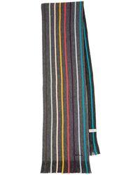 Paul Smith Wool Stripe Artist Scarf - Black