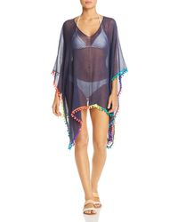bef366bb06a57 Vitamin A Paradise Plunge Tunic Swimsuit Cover Up in Blue - Lyst
