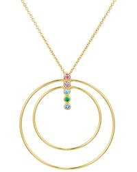 Argento Vivo - 18k Gold Plated Sterling Silver Rainbow Bar Pendant Necklace - Lyst