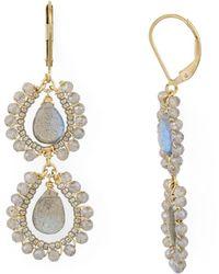 Dana Kellin - Double Drop Earrings - Lyst