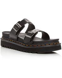 Dr. Martens Women's Myles Platform Slide Sandals - Black