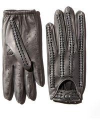 Portolano - Whipstitch Leather Driver Gloves - Lyst