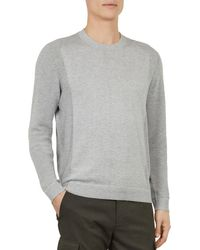 Ted Baker - Trull Textured - Sleeve Crewneck Sweater - Lyst