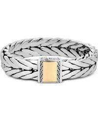 John Hardy Sterling Silver & 18k Bonded Yellow Gold Modern Chain Large Bracelet - Metallic