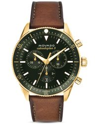 Movado - Heritage Calendoplan Chronograph - Lyst