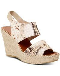 Andre Assous Women's Reese High Heel Espadrille Sandals - Natural