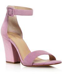 8786eb6343ee Vince Camuto Women s Carrelen Suede Bow Block Heel Sandals in Pink ...