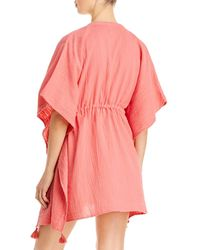 Echo Butterfly Caftan Swim Cover - Up - Pink