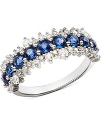 Bloomingdale's - Blue Sapphire & Diamond Ring In 14k White Gold - Lyst
