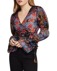 BCBGeneration - Tiered-sleeve Wrap Top - Lyst