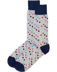 Bloomingdale's Multi - Dot Socks - Gray