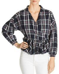 Vero Moda - Ketch Plaid Cotton Top - Lyst