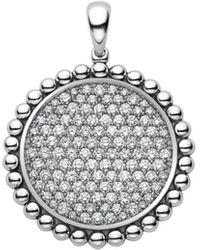 Lagos - Sterling Silver Caviar Spark Diamond Pendant - Lyst
