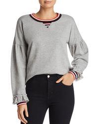 Rebecca Minkoff - Jewel Striped-trim Sweatshirt - Lyst