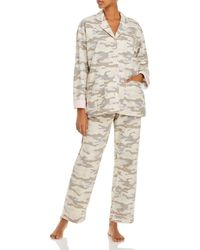 Pj Salvage Printed Flannel Pajama Set - Multicolor