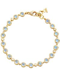 Temple St. Clair 18k Gold Small Bracelet With Royal Blue Moonstone And Diamonds - Metallic