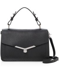 Botkier Valentina Pebbled - Leather Satchel - Black