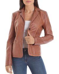 Bagatelle Faux - Leather Blazer - Multicolor