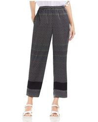 Vince Camuto - Diamond Geo Stripe Straight Ankle Trousers - Lyst