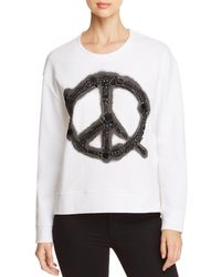 Kenneth Cole - Embellished Pique Sweatshirt - Lyst
