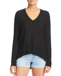 Aqua - Seamed High/low Sweater - Lyst