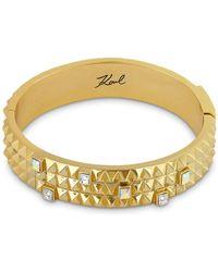 Karl Lagerfeld Pyramid Cuff Bracelet - Metallic