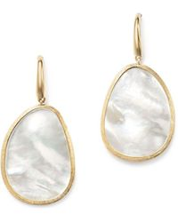 Marco Bicego | 18k Yellow Gold Lunaria Mother-of-pearl Drop Earrings | Lyst