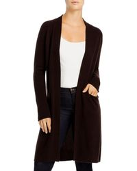 C By Bloomingdale's Cashmere Duster Cardigan - Brown