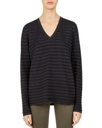 Gerard Darel - Cherryl Metallic-stripe Sweater - Lyst