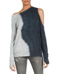 Michael Lauren Ventura Smoke Splatter Sweatshirt - Gray